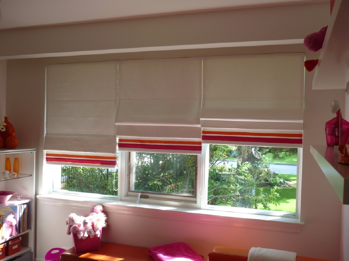 Roman Shades And Motorized Roller Shades Toronto