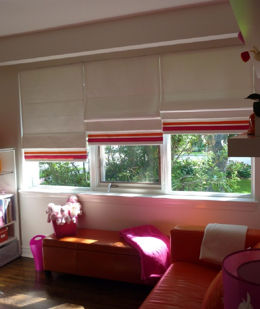 Roman Shades Custom And Commercial Drapes In Toronto